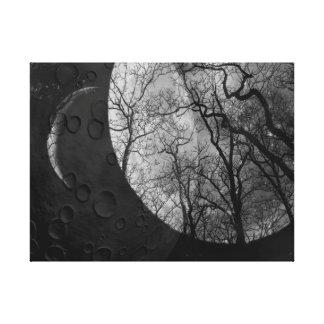 Den abstrakt måneskogen skräddarsy färgkanfasen canvastryck