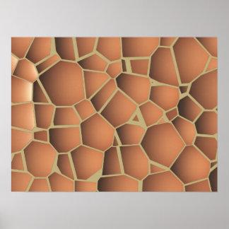 Den abstrakt mosaiken golv-belägger med tegel terr poster