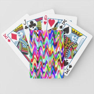 Den abstrakt mosaiken vinkar mönster #2 spelkort