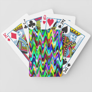 Den abstrakt mosaiken vinkar mönster #3 spelkort
