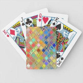 Den abstrakt mosaiken vinkar mönster #8 spelkort