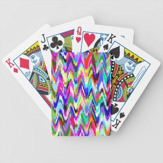 Den abstrakt mosaiken vinkar mönster spelkort