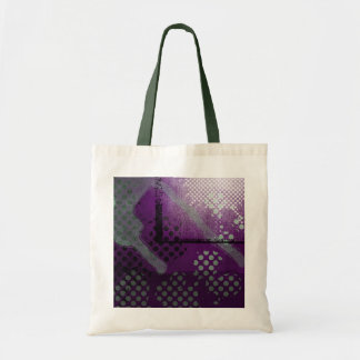 Den abstrakt purpurfärgade metalliska Grungetotot Tygkasse