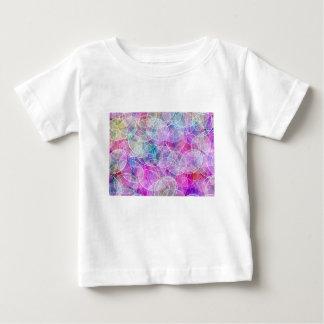 Den abstrakt regnbågen bubblar konsttrycket t shirts