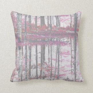 Den abstrakt rosa dekoren för skogen för kudde