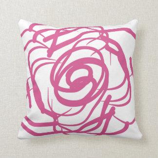 Den abstrakt rosa Ro-Dekoren kudder Kudde