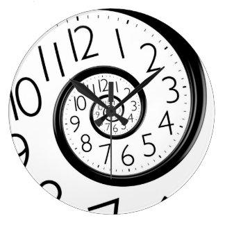 Den abstrakt Time spiral oändlighetsväggen tar tid Stor Rund Klocka