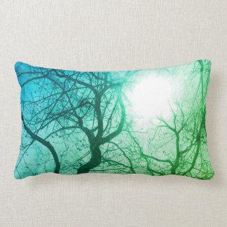 Den abstrakt trädgröntdekoren kudder lumbarkudde