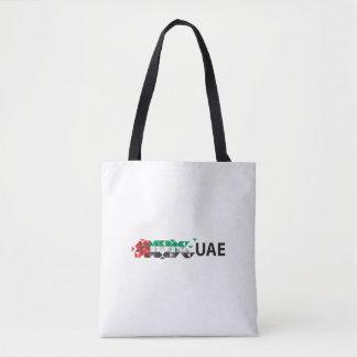 Den abstrakt UAE-flagga, United Arab Emirates Tygkasse