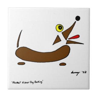Den abstrakt Wienerhunden belägger med tegel Kakelplatta