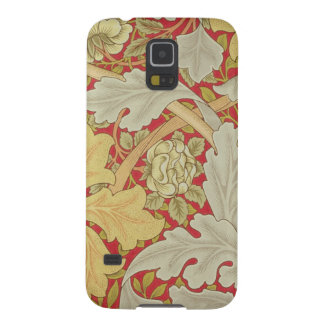 Den Acanthuslöv och vilden steg på en crimson Galaxy S5 Fodral