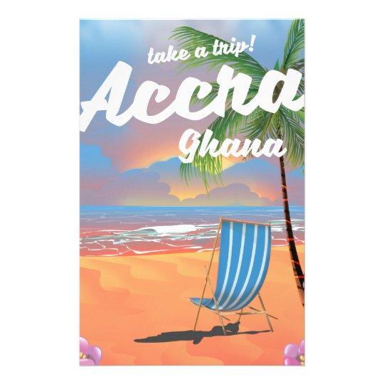 Den Accra Ghana stranden reser affischen Brevpapper