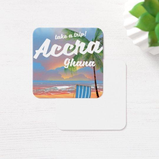 Den Accra Ghana stranden reser affischen Fyrkantigt Visitkort