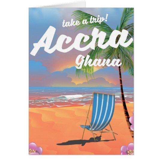Den Accra Ghana stranden reser affischen Hälsningskort