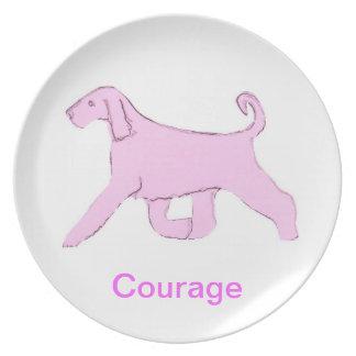 Den afghanska medvetenheten för hundkuragecancer p tallrik