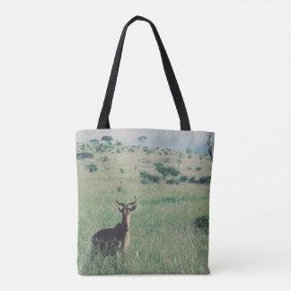 Den afrikanska antiloptotot hänger lös tygkasse