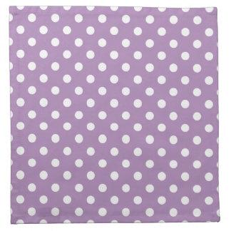 Den afrikanska violetta purpurfärgade polkaen tygservett