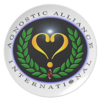 Den Agnostic alliansinternationell - plätera Tallrik