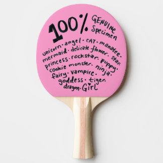 Den äktaa provflickapingen Pong paddlar Pingisracket