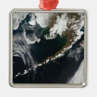 Den alaskabo peninsulan och de Aleutian öarna Julgransprydnad Metall