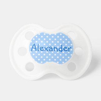 Den Alexander blått- och vitpolkaen pricker Napp För Baby