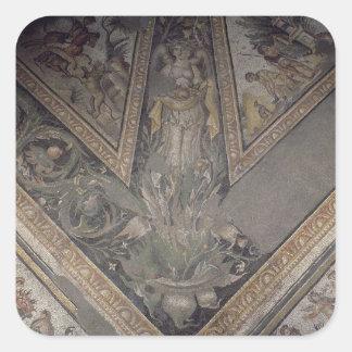 Den Allegorical figuren av hösten, specificerar av Fyrkantiga Klistermärken