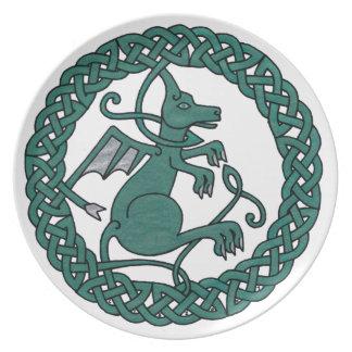 Den älsklings- draken pläterar tallrik
