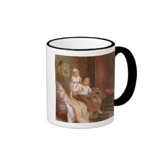 Den älsklings- fågeln (olja på kanfas) kaffe mugg