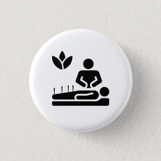 Den alternativa medicinpictogramen knäppas mini knapp rund 3.2 cm