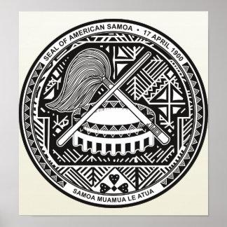 Den American Samoa vapenskölden specificerar Poster