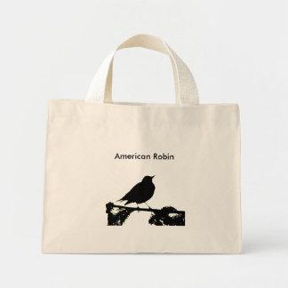 Den amerikanRobin silhouetten hänger lös Mini Tygkasse