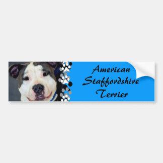 Den amerikanStaffordshire Terrier-Förmiddagen Bildekal