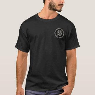 Den Angevin väldesvarten & vit förseglar skjortan Tee