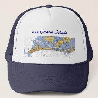 Den Anna Maria ön nautiska Florida kartlägger Keps