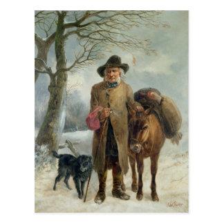 Den annalkande vintern tankar vykort
