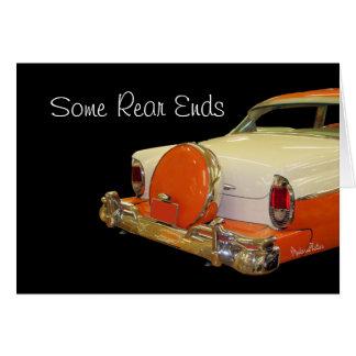 Den antika bilen med lurar sats-skräddarsy något hälsningskort