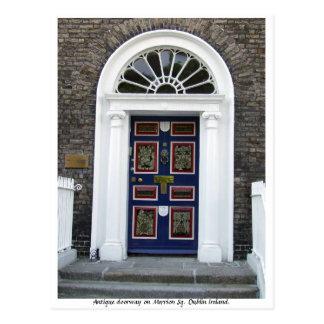 Den antika Dublin dörröppningen, Merrion kvadrerar Vykort