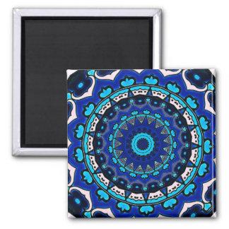 Den antika ottomanen belägger med tegel designSTJÄ Magnet