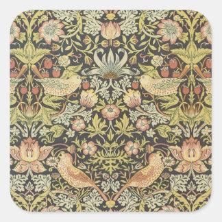 Den antika victorianen William Morris blommar Fyrkantigt Klistermärke