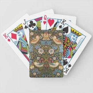 Den antika victorianen William Morris blommar Spel Kort