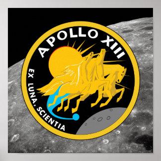 Den Apollo 13 NASA-beskickningen lappar logotypen Poster