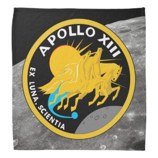 Den Apollo 13 NASA-beskickningen lappar logotypen Scarf