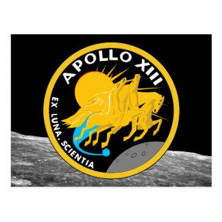 Den Apollo 13 NASA-beskickningen lappar logotypen Vykort