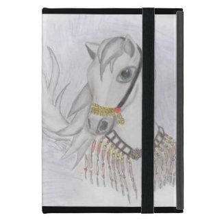 Den arabiska hästen i indisk dräkt i färg ritar iPad mini skal