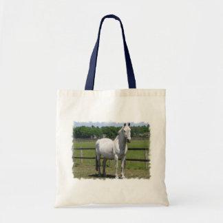Den arabiska hästtotot hänger lös tygkasse