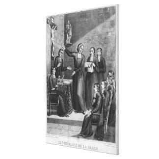 Den ärevördiga Sanktt Jean-Baptiste de La Salle Canvastryck