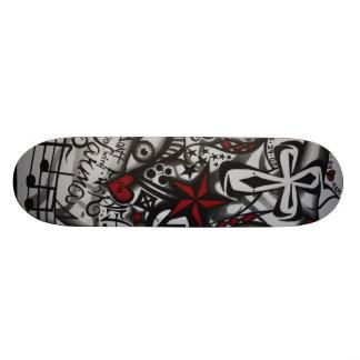 Den arga skridskon stiger ombord mini skateboard bräda 18,5 cm
