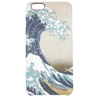 Den återställda underbaren vinkar av Kanagawa vid Clear iPhone 6 Plus Skal
