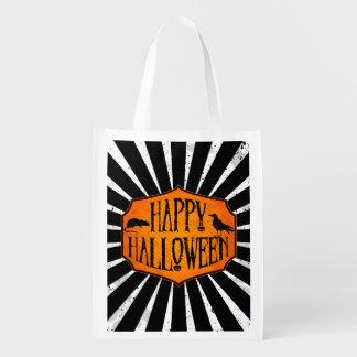 Den återvinningsbara happy halloween hänger lös återanvändbar påse