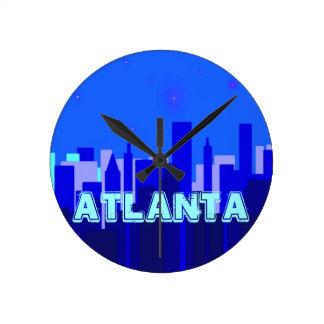 Den Atlanta väggen tar tid på Rund Klocka